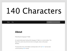 Tablet Preview of 140characters.net
